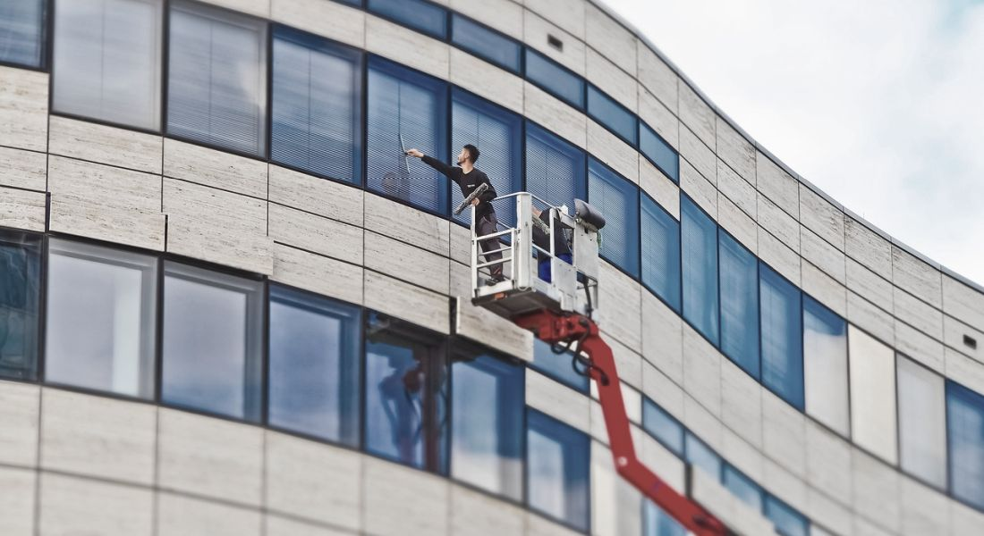 Gewerbliche Fensterreinigung